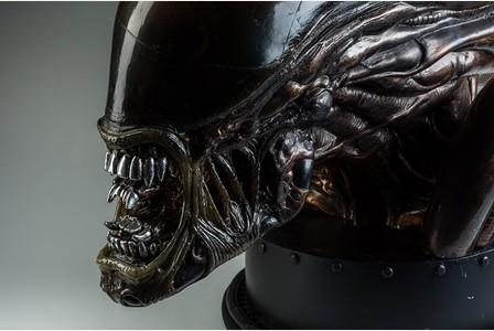 Alien head model by Terry English which will be on display at Royal Cornwall Museum's forthcoming exhibition All Monsters Great and Small